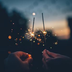 Hands holding Sparklers Celebrations