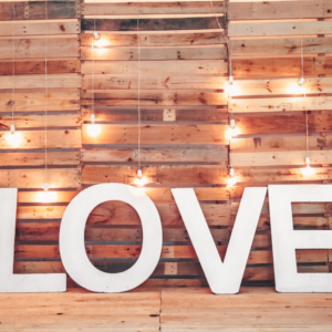 Love Sign Wooden