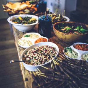 Food Buffet Table Display