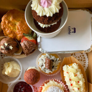 Classic Afternoon Tea Box Table Belfast Northern Ireland Food Deliveries