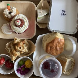 Savoury Afternoon Tea Box Table Belfast delivery